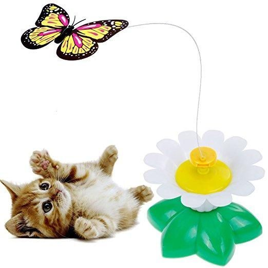 Butterfly Toy For Cats - Interactive Toy With A Fastening Tape - Multicolor #interactivecattoysawesome