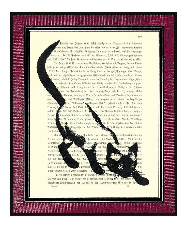#LiteraryCat artwork via @Etsy