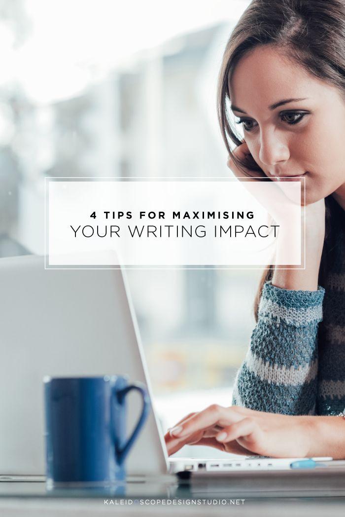 4 Tips for Maximising your Writing Impact - Kaleidoscope Design Studio Blog