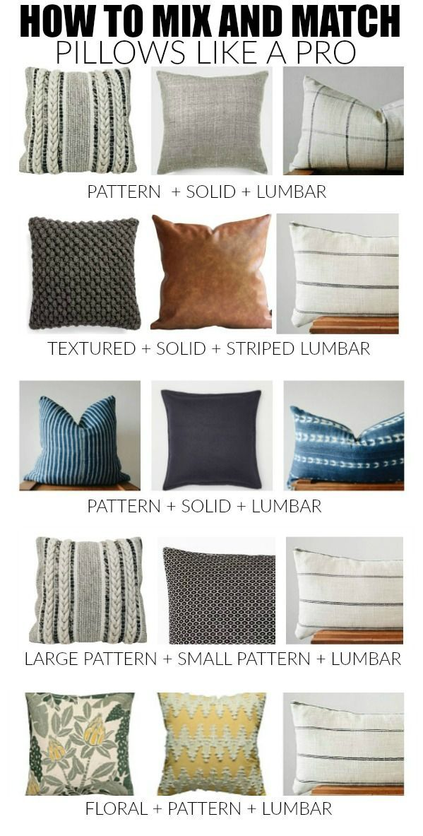 How To Master The Perfect Pillow Combinations In 2020 Throw Pillows Living Room Living Room Pillows Farm House Living Room