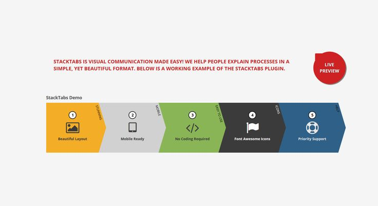 UPDATES    Version 1.0.10 (04/19/2016) Bug Fix: Some themes were causing a conflict with the CSS that pushed the StackTabs display to the top of the page. This issue has been resolved in version ...