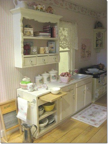 Shabby Chic kitchen by Diane Melcher
