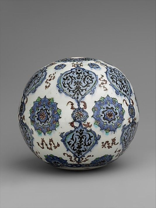 Hanging ornament | Kütahya, Turkey, 19th century | Stonepaste; polychrome painted under a transparent glaze | The Metropolitan Museum of Art, New York