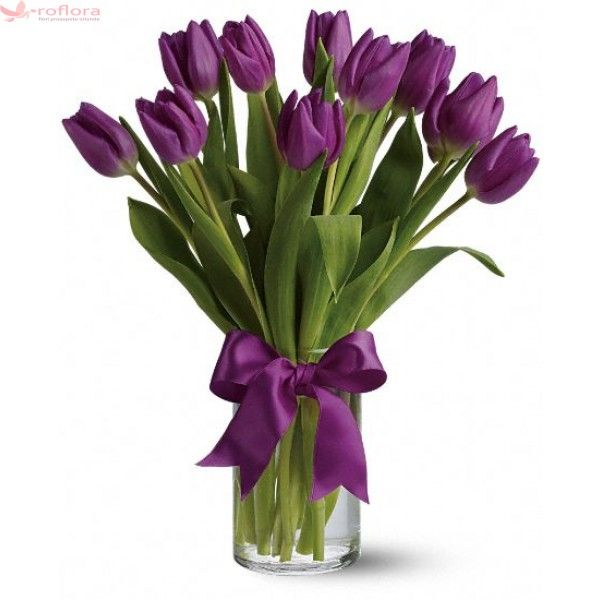 Violet - Buchet din 11 lalele violet