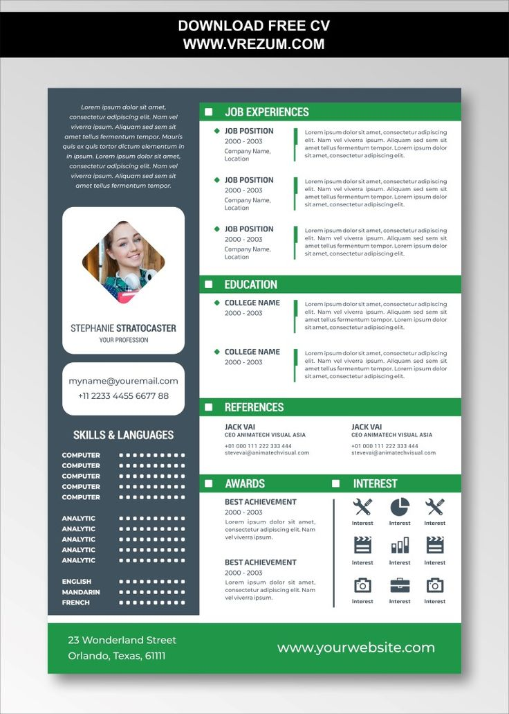 (EDITABLE) FREE CV Templates For Experienced in 2020