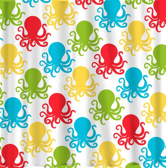 Octopus Design with or w/o Personalization -Many Colors Selection