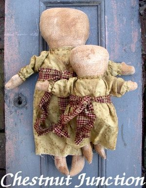 MARY & JANE epattern...primitive doll by chestnutjunction on Etsy, $3.99