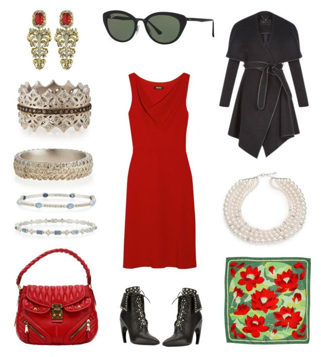 """""""Valencia, Spain"""" by creation-gallery ❤ liked on Polyvore featuring Massimo Dutti, Givenchy, Ray-Ban, Miu Miu, Hermès, BCBGeneration, Majorica, Armenta and Roberto Cavalli"""