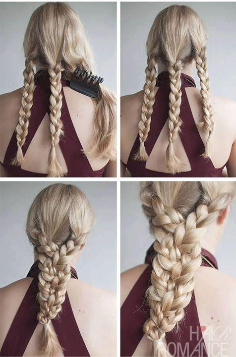 Tuto coiffure - Faire un grosse tresse à partir de 3 tresse cheveux Hair Styles - Google+
