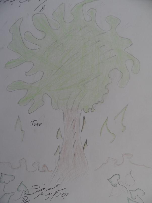 Nazima Azmari, táto slečna má 14 rokov, názov obrázka - Strom