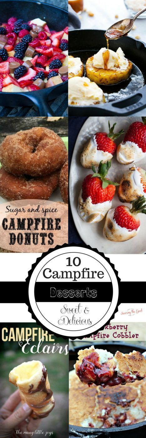 Here are 10 campfire dessert recipes that go beyond the s'more. Just because you are camping, or glamping, doesn't mean you have to miss out of a sweet and delicious dessert.