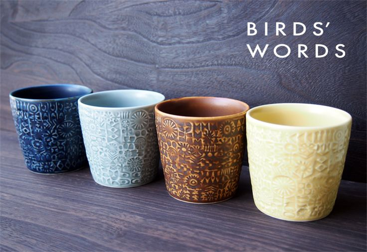 PATTERNED CUP / BIRDS' WORDS バーズワーズ | キッチン | Abby Life エスプレッソのある生活 | エシカル, フェアトレード, オーガニック, デザインアイテム通販サイト