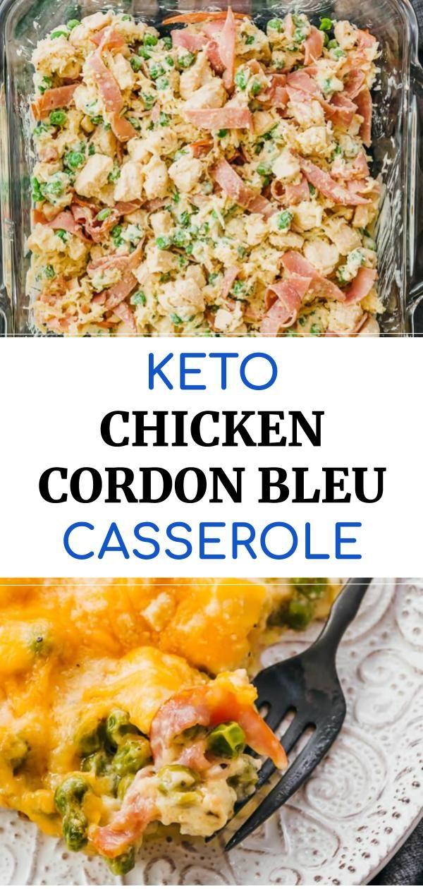 The Best Baked Chicken Cordon Bleu Casserole With A Creamy Sauce