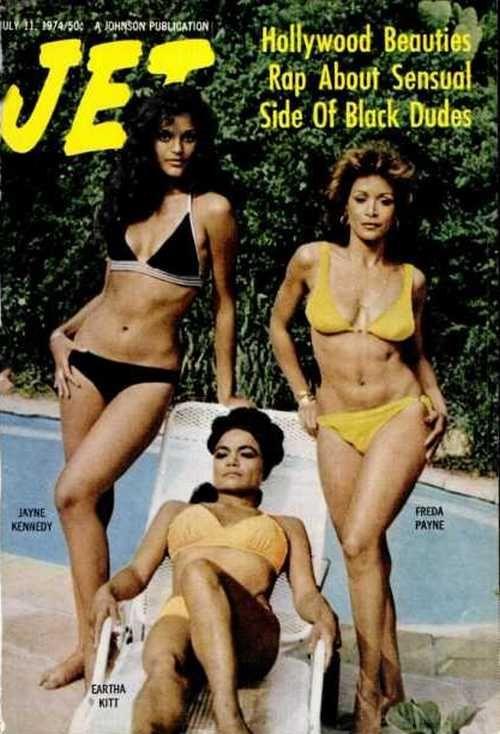 Freda Payne, Eartha Kitt, and Jayne Kennedy on the cover ofJetmagazine, July 1974.