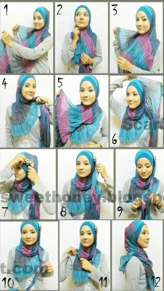 Simple and easy hijab tutorial