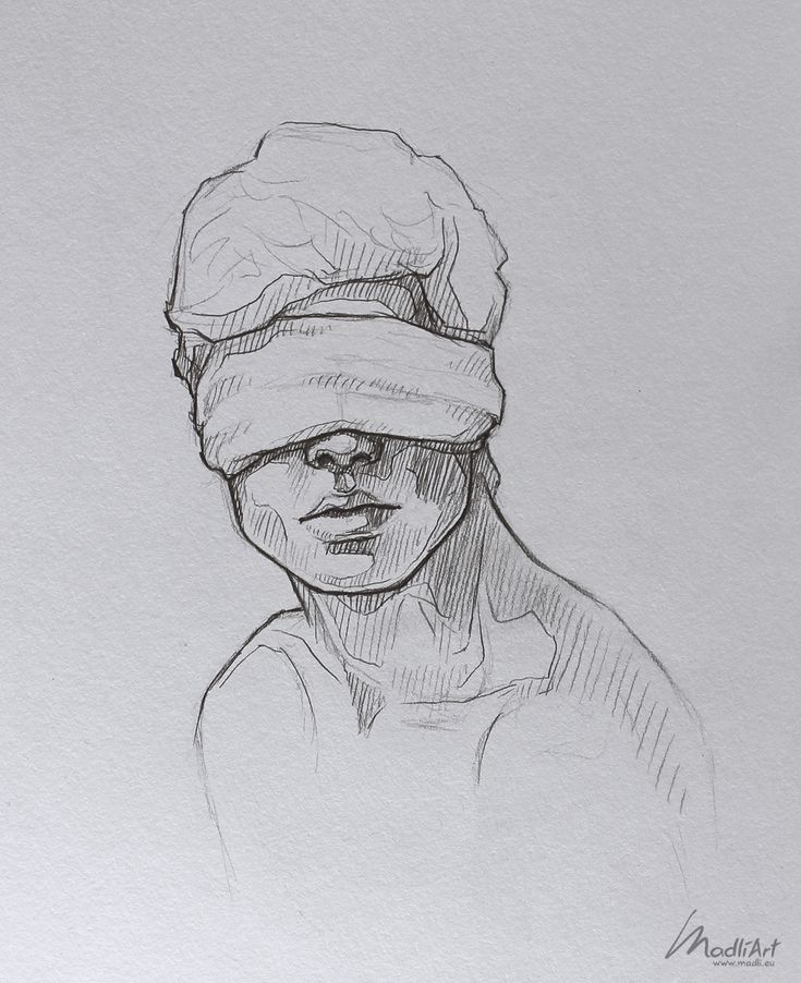My Sketchbook Art I Dreamy Blindfolded Drawing Guy I Cute Sketch I Sketchy Art I… – Feli Feli