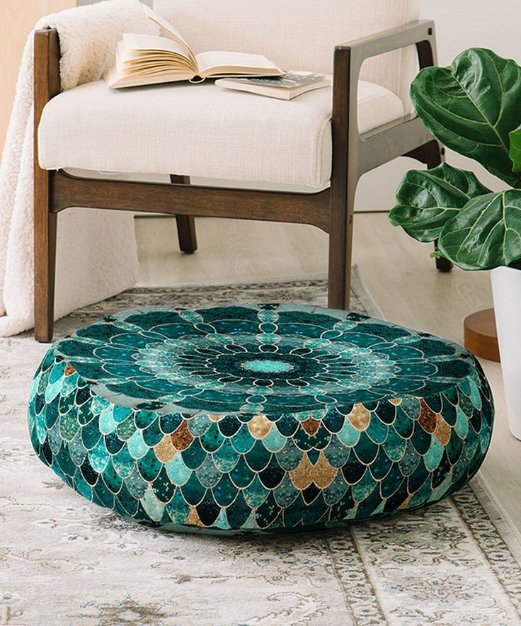 Sofa Beds Fall into plush support on this generously padded floor pillow ensuring a casual yet fy home accent Design by Monika H x polyesterSpot cleanImported
