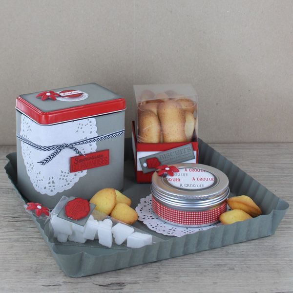 """panier gourmand """"Brownie américain"""" Cook & Gift http://www.cook-and-gift.com/"""
