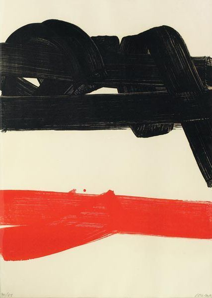 Pierre Soulages, Composition - 1970 on ArtStack #pierre-soulages #art
