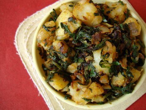 Potatoes with Fenugreek (Aloo Methi)