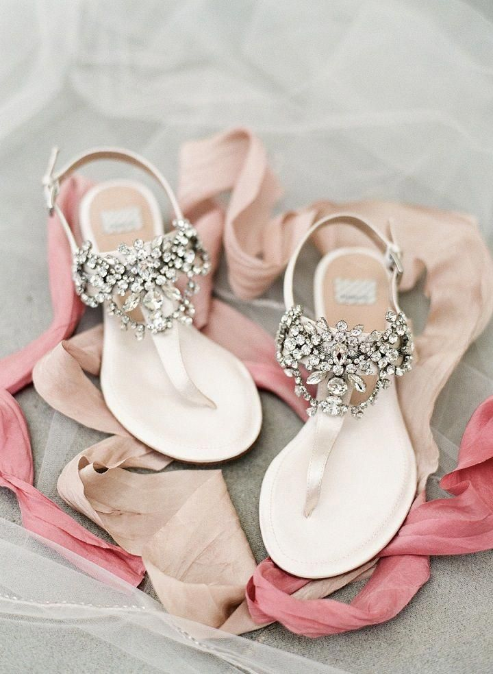 Gorgeous Jeweled Flats Bridal Shoes Perfect For Summer Wedding Weddingshoes Flats Bridalshoes Wedding Shoes Sandals Bride Sandals Bridal Shoes Flats