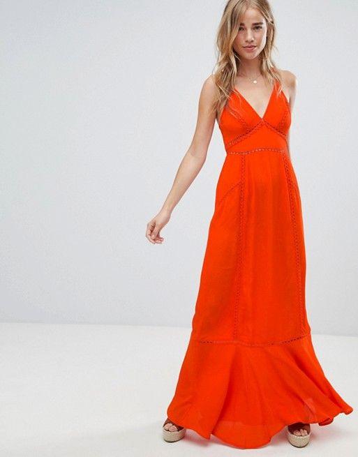 e36c14fbdad7c ASOS DESIGN broderie insert maxi dress at asos.com - Love the color ...