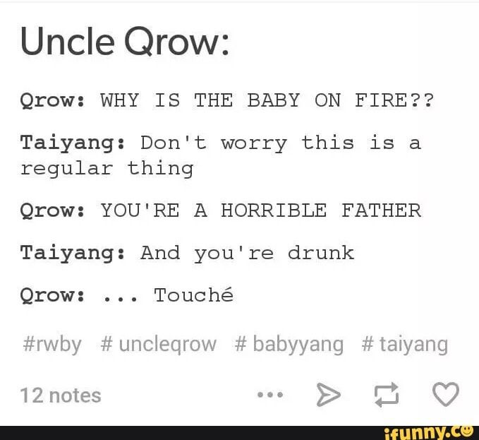"""RWBY: A Casual Talk with Qrow & Taiyang (This """"Causal Talk"""" tag is basically a series on my board now, geez.)"""