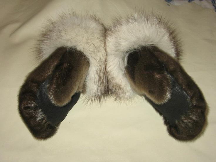 Sealskin mitts via John Lemay
