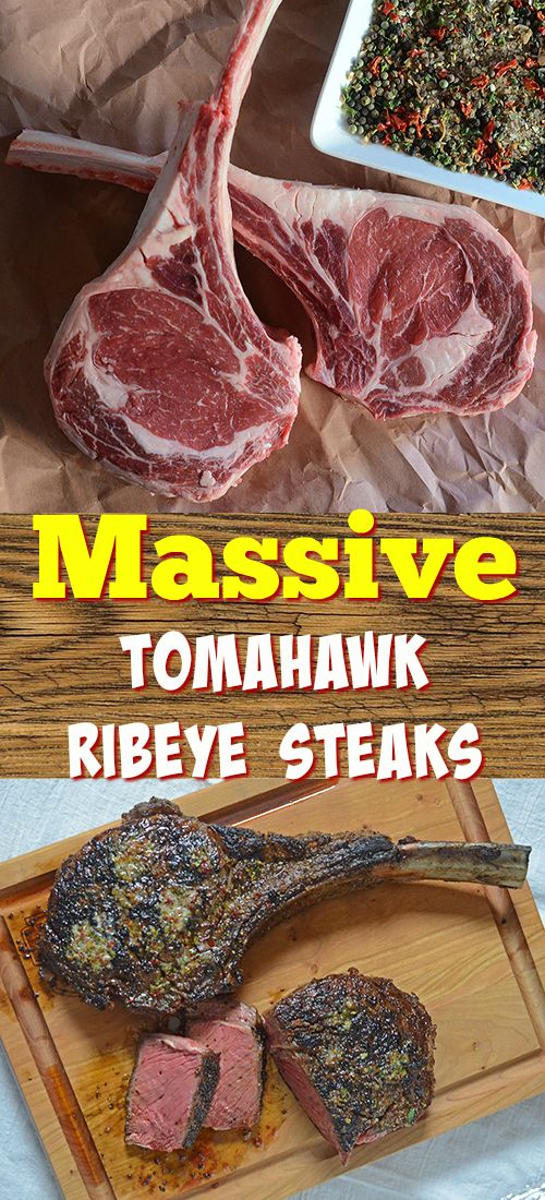 Tips and techniques for cooking thick steaks like these tomahawk ribeyes, also works on NY Strip steaks and beef fliet.