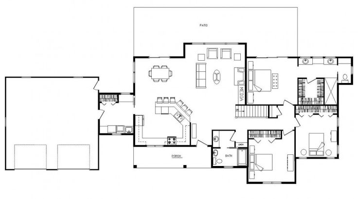 Ranch House Plans With Open Floor Plan Home Timber