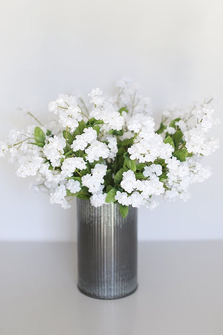 Silk Flower Baby S Breath In White 19 Silk Flowers Silk Flower Arrangements Artificial Flowers