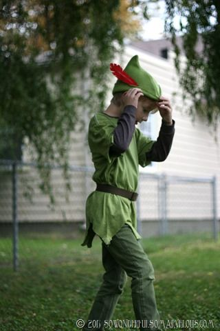 no link - just inspiration for a simple boy's costume - imp, elf, peter pan