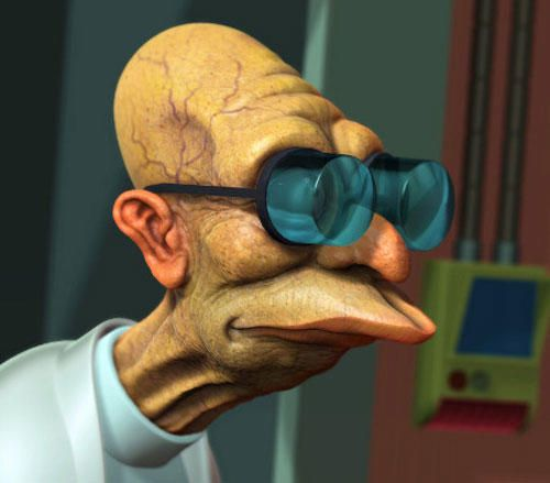Professor Farnsworth, Futurama. You Can't Miss This! The 18 Most Famous Cartoon Characters In 3D • Page 4 of 5 • BoredBug