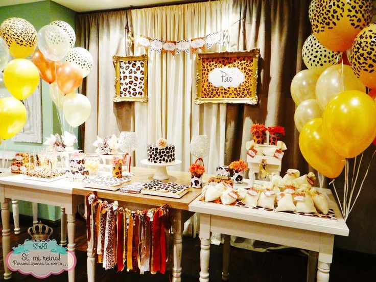 Animal print Birthday Party Ideas   Photo 1 of 18   Catch My Party