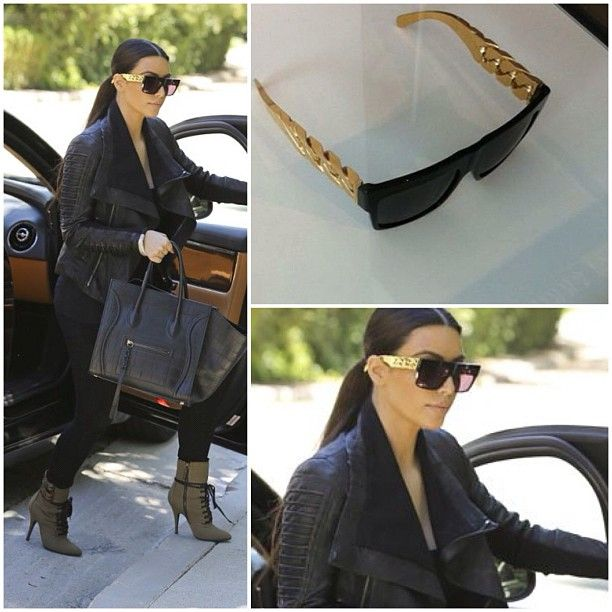 Celine limited edition gold chain sunglasses