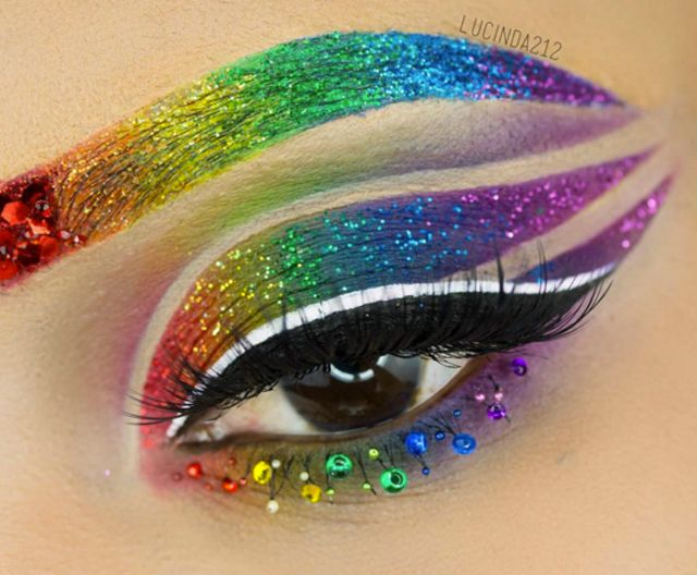 Rainbow-inspired makeup has been splashed all across our newsfeeds lately, but this mind-blowing tutorial will give you a whole new admiration for the trend. This look is perfect if you're seeking a new way to celebrate LGBT Pride Month.