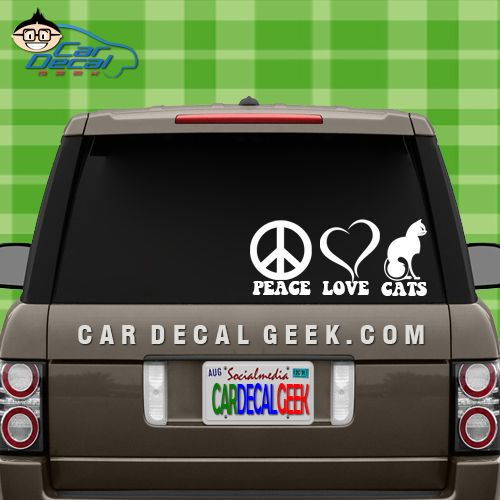 Peace love cats decal sticker