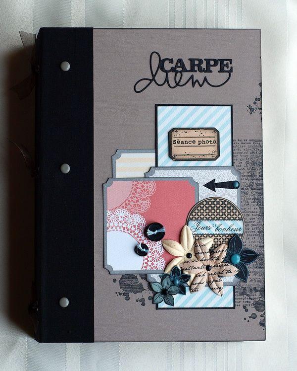 """Bonjour. Voici les images de mon album """"Carpe diem"""" proposé en atelier. merci à toutes les filles ayant participé. Il n'y a ni kit ni tuto à vendre. Mais vous pouvez trouver le tuto de mon album """"Clic clac"""" mis à dispostion gratuitement sur cartoscrap,..."""