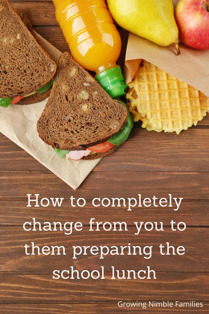 How to completely change from you to them preparing school lunch | series