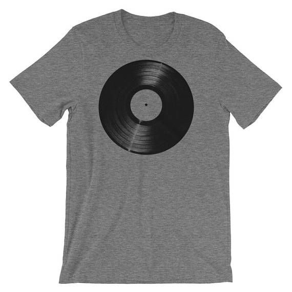 Great gift for Record Collector or Music Lover! Valentines Gift for Him Mens Graphic Tee Vinyl LP Shirt