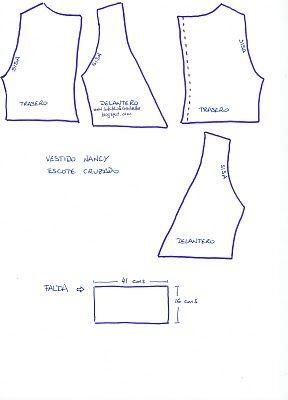 Patrón Nancy vestido escote cruzado