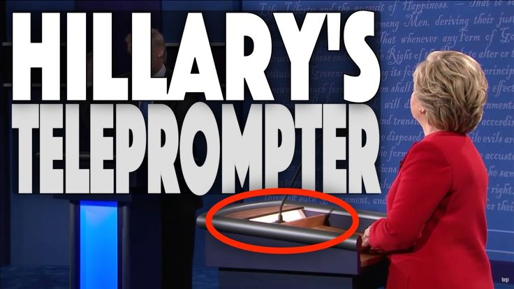 Did Hillary Clinton have a teleprompter embedded into her podium at the first presidential debate of 2016? Many people believe that she did and the images ar...