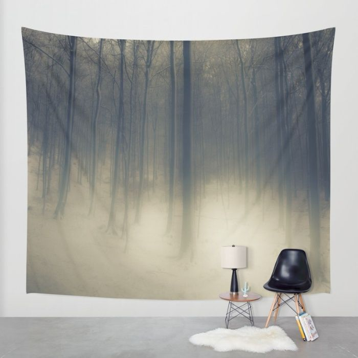 Winter Magic Forest Wall Tapestry by Tanja Riedel | Society6