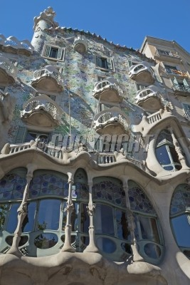 Casa Battlo in Barcelona  Catalunya, Spain   Vertically