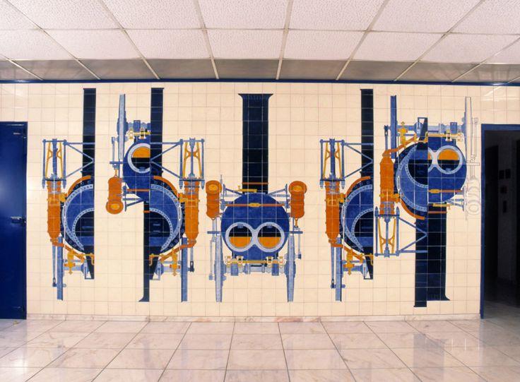 Eduardo Nery | Estação Ferroviária de / Railway Station of Contumil | 1994 [© Arquivo Eduardo Nery] #Azulejo #EduardoNery