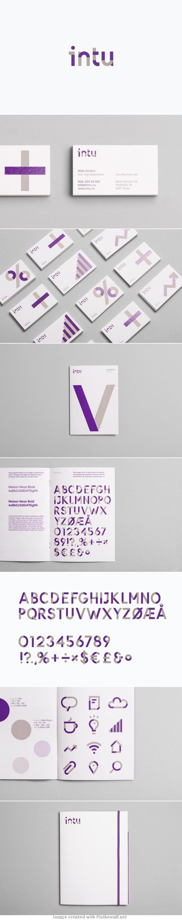 Identity for Intu, a norwegian accounting and consultant company, by Heydays…