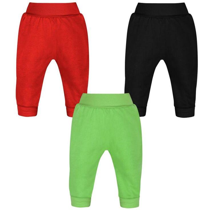 Lot de 3 Pantalons bébé unisexes (3 couleurs)