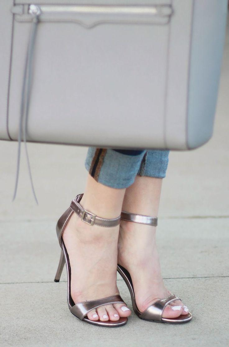 metallic pewter heels from @target