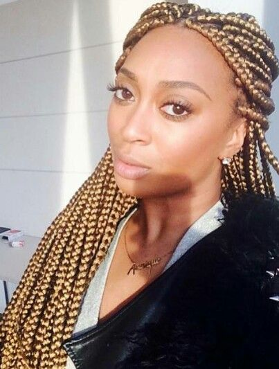 Pinterest Mellystone Blonde Medium Box Braids