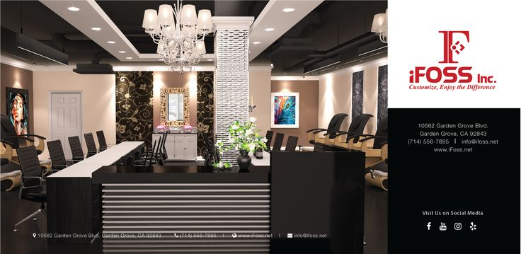 A Luxury Style For Nail Salon. Are You Ready To Update Your Salon To Be